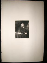 After Joshua Reynolds C1830 Folio Mezzotint. Lord Erskine